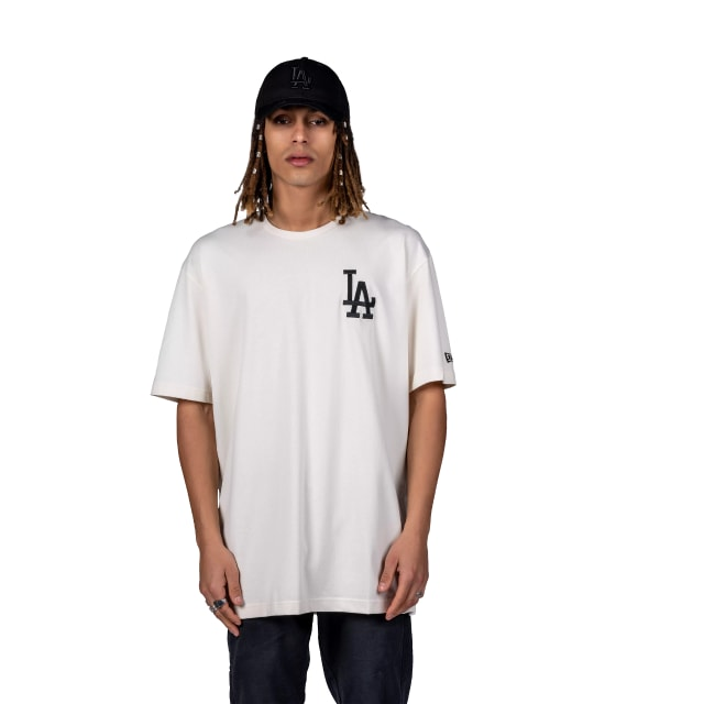 Los Angeles Dodgers Oversized Off White Logo T-shirt | Los Angeles Dodgers | New Era Cap