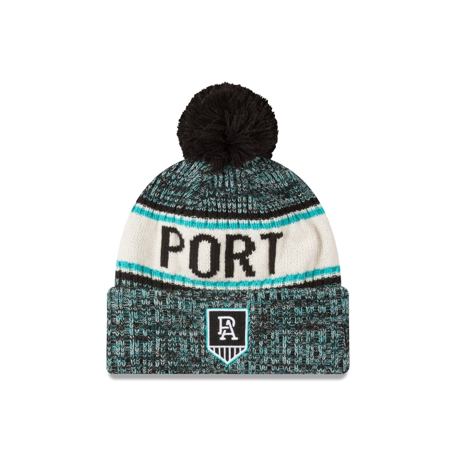 Port Adelaide Power Authentic Team Cuff Knit Beanie | Port Adelaide Power Hats | New Era Cap