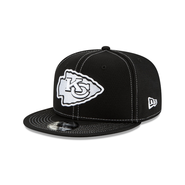 Kansas City Chiefs Nfl Sideline Road Black 9fifty Snapback | New Era Cap
