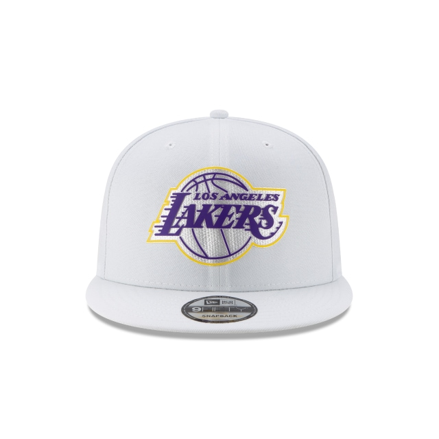 Los Angeles Lakers NBA Authentics Back HaLF Series White 9FIFTY Snapback | Los Angeles Lakers Hats | New Era Cap