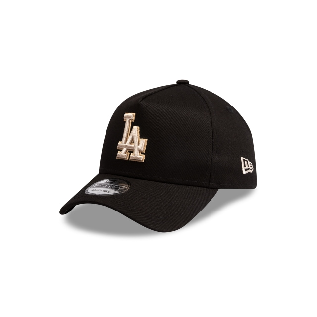Los Angeles Dodgers Black And Stone 9FORTY A Frame | Los Angeles Dodgers Hats | New Era Cap