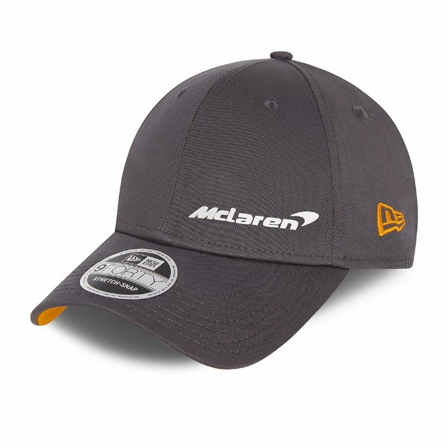 Mclaren F1 Essentials Anthracite 9FORTY Snapback | Mclaren Hats | New Era Cap
