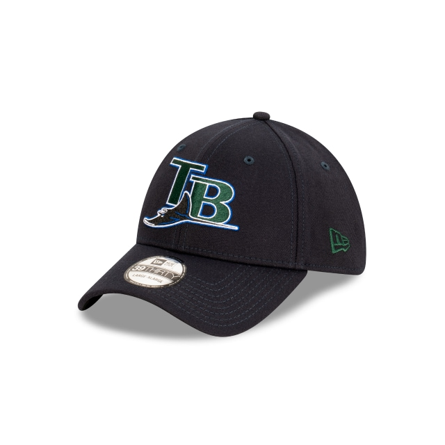 Tampa Bay Rays MLB Ligature Collection Official Team Colours 39THIRTY Stretch Fit | Tampa Bay Rays Hats | New Era Cap