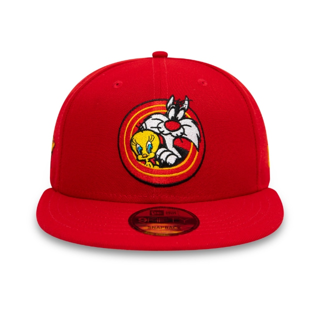 Tweety And Sylvester Loony Tunes Red 9fifty Snapback | Pwrcouple 950bold Caps | New Era Cap