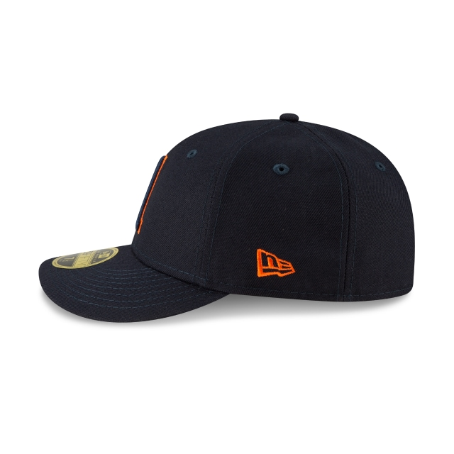 Houston Astros MLB Ligature Official Team Colours Low Profile 59FIFTY Fitted | Houston Astros Hats | New Era Cap