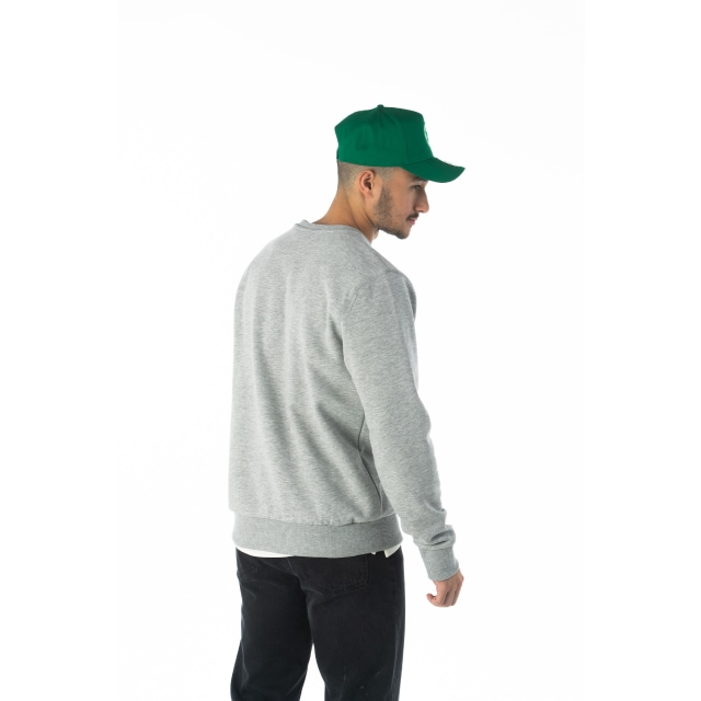 Nba Wordmark Boston Celtics Light Grey Crew Neck Sweater | Boston Celtics Basketball Caps | New Era Cap