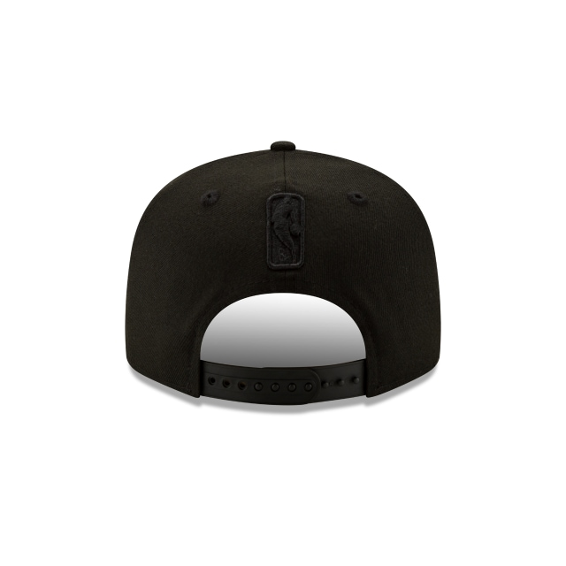 Utah Jazz NBA Authentics Back HaLF Series Black On Black 9FIFTY Snapback | Utah Jazz Hats | New Era Cap