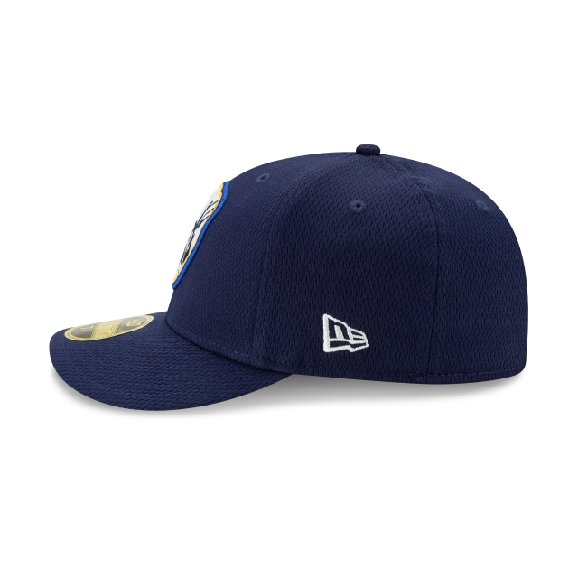Milwaukee Brewers 2021 Batting Practice Official Team Colours Low Profile 59FIFTY Fitted | Milwaukee Brewers Hats | New Era Cap