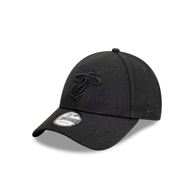 Miami Heat Black On Black 9FORTY | Miami Heat Hats | New Era Cap