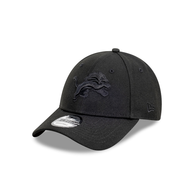 Detroit Lions Black On Black 9FORTY | Detroit Lions Hats | New Era Cap