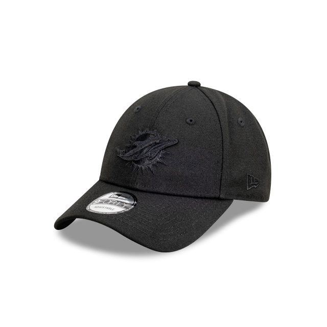 Miami Dolphins Black On Black 9FORTY | Miami Dolphins Hats | New Era Cap