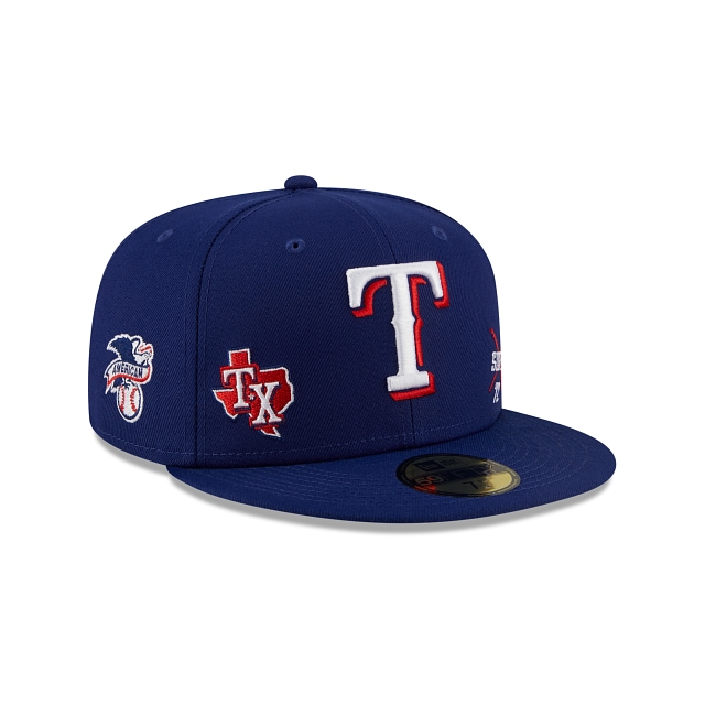 Texas Rangers Multi Patch Official Team Colours 59FIFTY Fitted | Texas Rangers Hats | New Era Cap