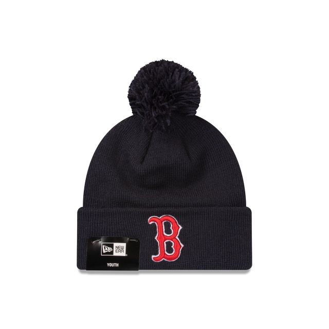 Boston Red Sox Youth Navy Team Cuff Knit Beanie | Boston Red Sox Hats | New Era Cap