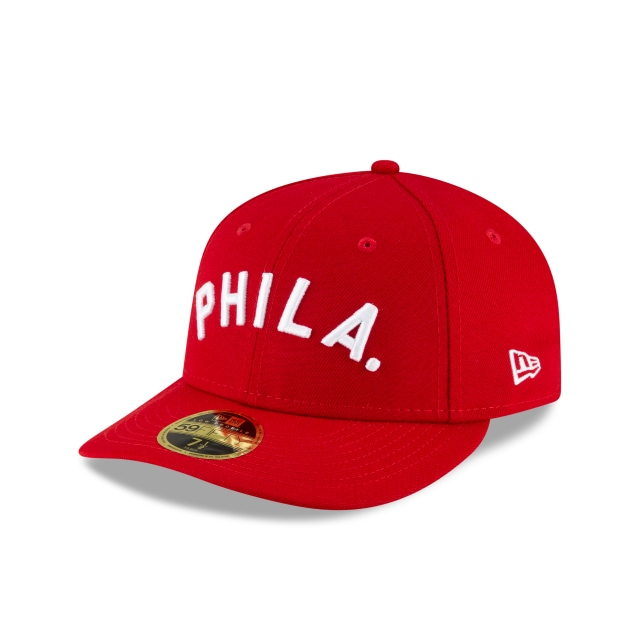 Philadelphia Phillies MLB Ligature Official Team Colours Low Profile 59FIFTY Fitted | Philadelphia Phillies Hats | New Era Cap