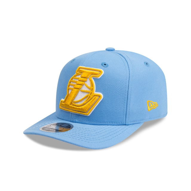 Los Angeles Lakers Sky Blue 9FIFTY Original Fit Pre-curved Snapback | Los Angeles Lakers Hats | New Era Cap