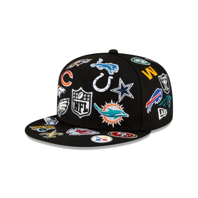 NFL All Over Logo 59FIFTY Fitted | New Era 100th Anniversary Hats | New Era Cap