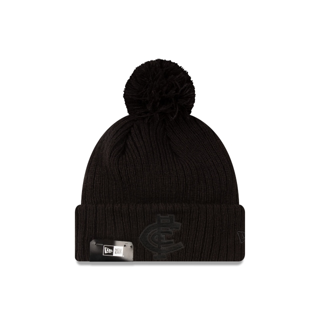 Carlton Blues Black On Black Cuff Knit Beanie | Carlton Blues Hats | New Era Cap