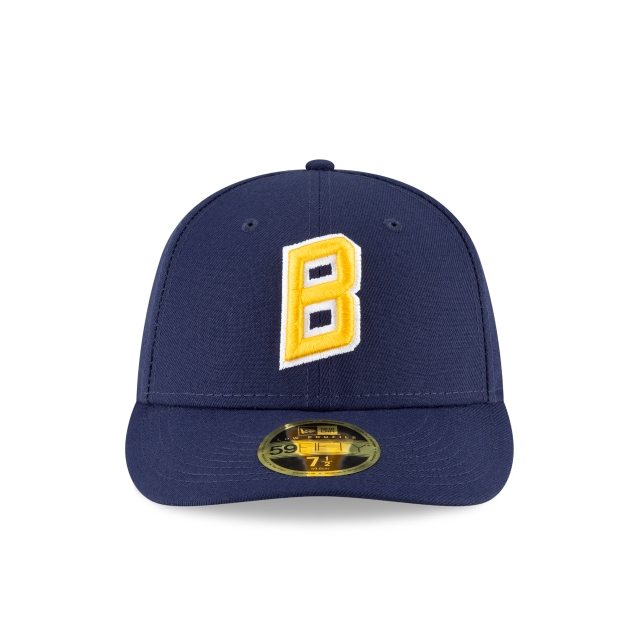 Milwaukee Brewers 2020 MLB Ligature Official Team Colours Low Profile 59FIFTY Fitted | Milwaukee Brewers Hats | New Era Cap
