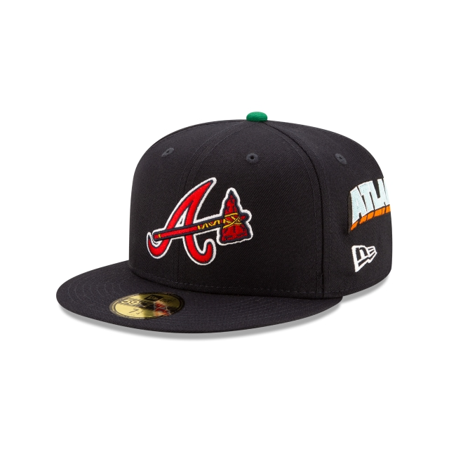 Offset X Atlanta Braves Navy 59FIFTY Fitted | Atlanta Braves Hats | New Era Cap