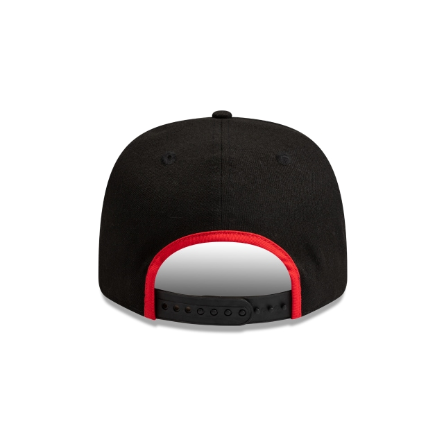 Chicago Bulls Black Team Binder 9FIFTY Pre-curved Snapback | Chicago Bulls Hats | New Era Cap