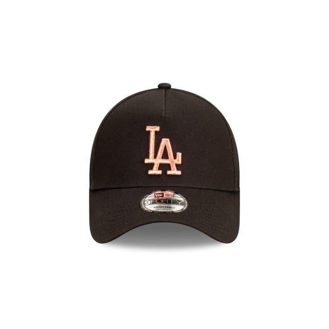 Los Angeles Dodgers Black And Rose Gold Womens 9FORTY A-frame | Los Angeles Dodgers Hats | New Era Cap