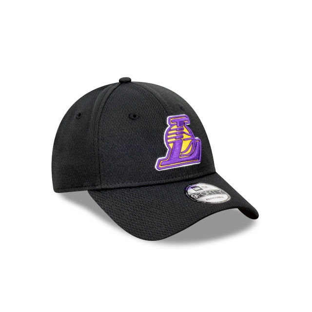 Los Angeles Lakers Black And Official Team Colours Dash Mesh 9FORTY Snapback | Los Angeles Lakers Hats | New Era Cap