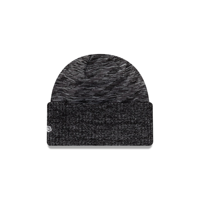 Manchester United Black Grey Oversized Cuff Beanie | Manchester United Hats | New Era Cap