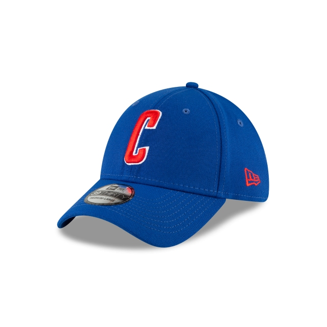 Chicago Cubs MLB Ligature Official Team Colours 39THIRTY Stretch Fit | Chicago Cubs Hats | New Era Cap