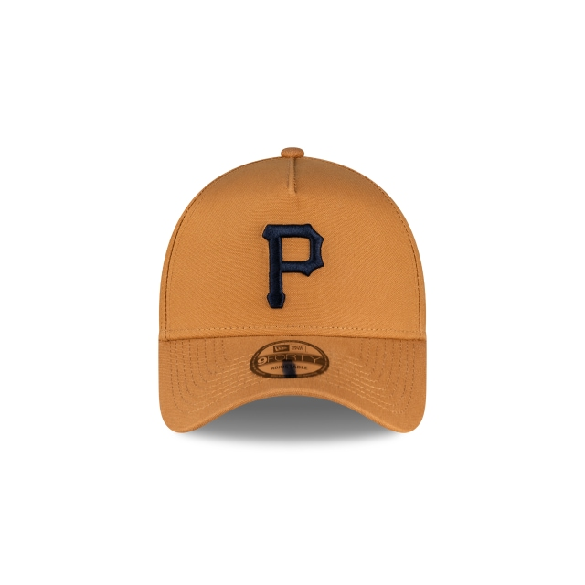 Pittsburgh Pirates Bronze And Navy 9FORTY A-frame | Pittsburgh Pirates Hats | New Era Cap