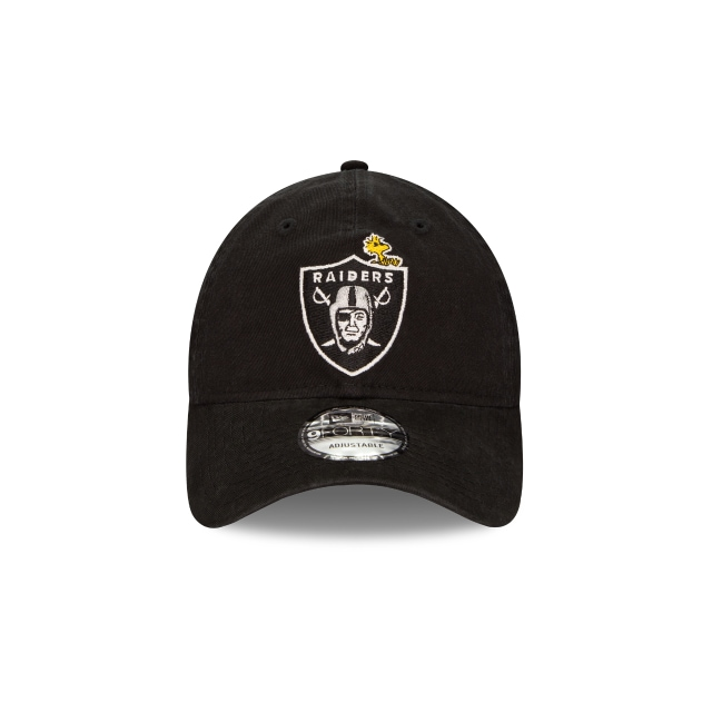 Oakland Raiders Nfl X Peanuts Black 9forty Unstructured | Las Vegas Raiders Football Caps | New Era Cap