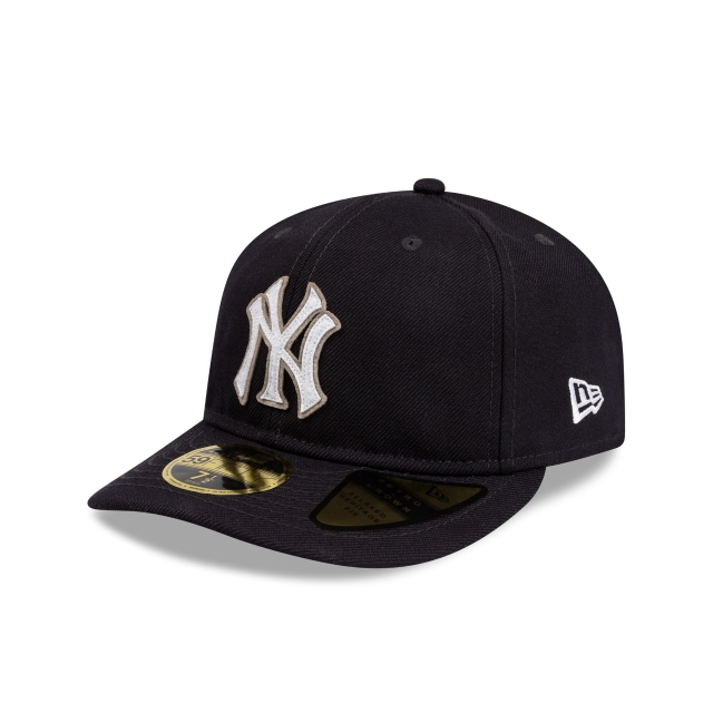 New York Yankees Navy Felt Logo Retro Crown 59fifty Fitted | New Era Cap