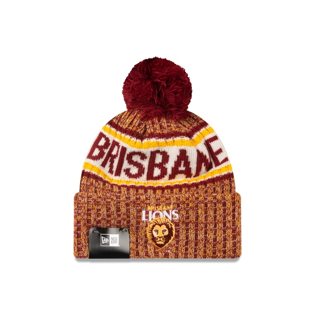 Brisbane Lions Authentic Team Cuff Knit Beanie | Brisbane Lions Hats | New Era Cap