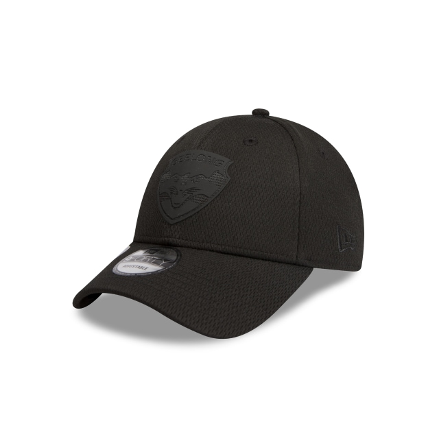 Geelong Cats Black On Black 9forty Snapback | New Era Cap