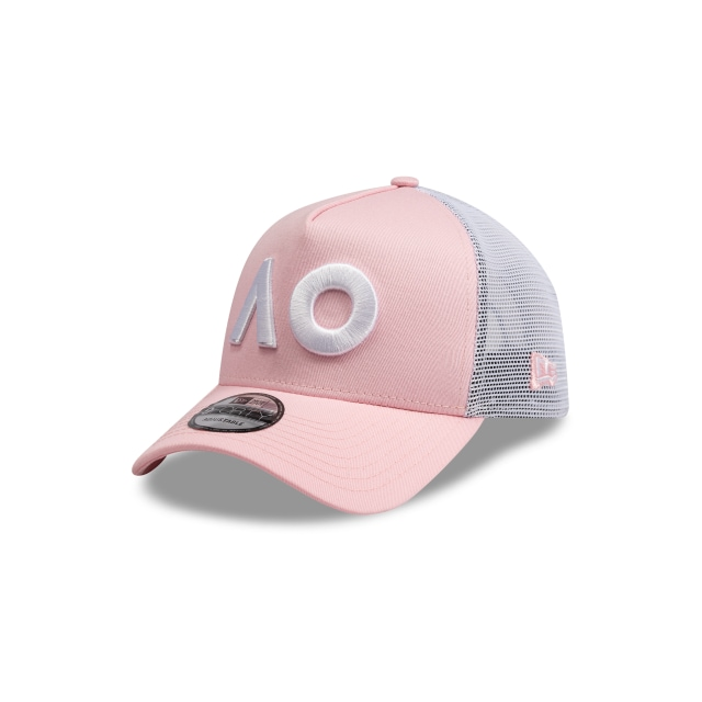 Australian Open Pink 9forty A-frame Trucker | New Era Cap