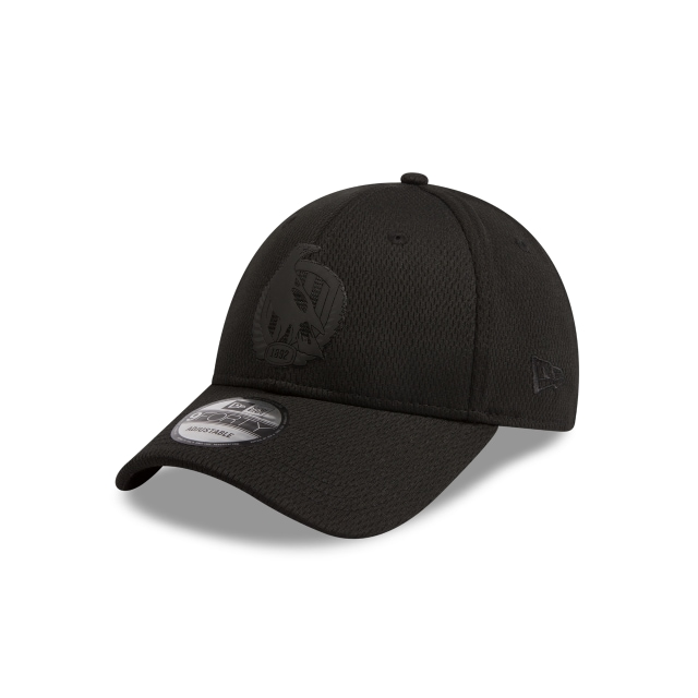 Collingwood Magpies Black On Black 9FORTY Snapback | Collingwood Magpies Hats | New Era Cap