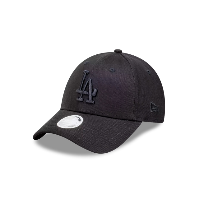 Los Angeles Black On Black Womens 9FORTY Cloth Strap | Los Angeles Dodgers Hats | New Era Cap
