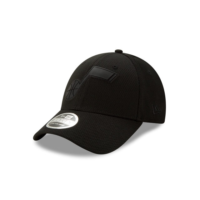 Utah Jazz Nba Authentics Back Half Series Black On Black Stretch Snap 9forty | New Era Cap