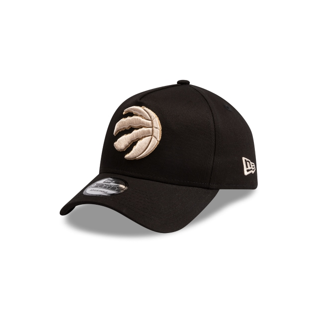 Toronto Raptors Black And Stone 9FORTY A Frame | Toronto Raptors Hats | New Era Cap