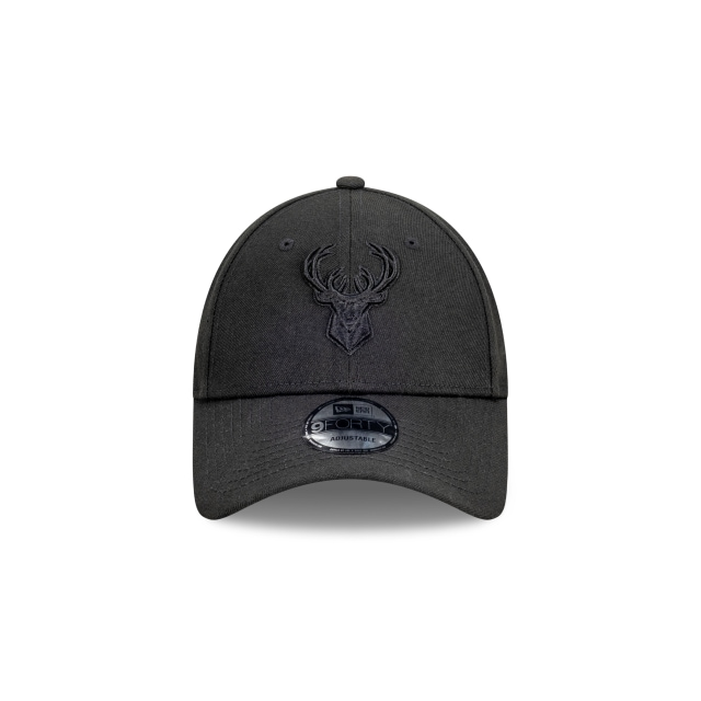 Milwaukee Bucks Black On Black 9FORTY | Milwaukee Bucks Hats | New Era Cap
