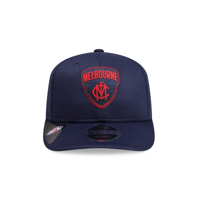 Melbourne Demons Navy Mesh 9FIFTY Pre-curved Snapback | Melbourne Demons Hats | New Era Cap