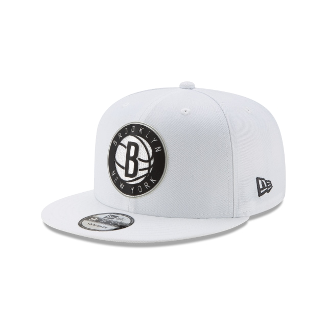 Brooklyn Nets NBA Authentics Back HaLF Series White 9FIFTY Snapback | Brooklyn Nets Hats | New Era Cap