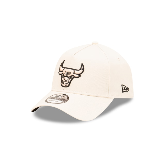 Chicago Bulls Stone And Black 9FORTY A-frame Snapback | Chicago Bulls Hats | New Era Cap