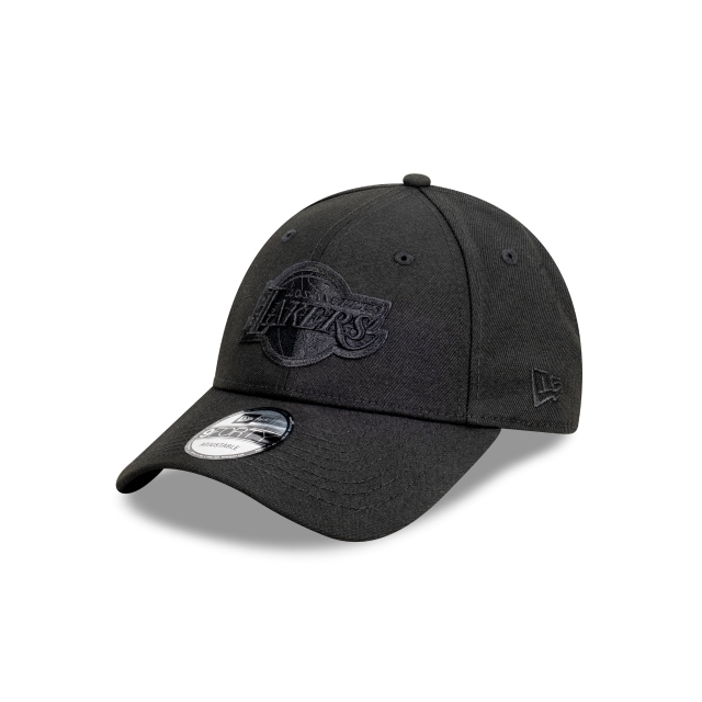 Los Angeles Lakers Black On Black 9FORTY | Los Angeles Lakers Hats | New Era Cap