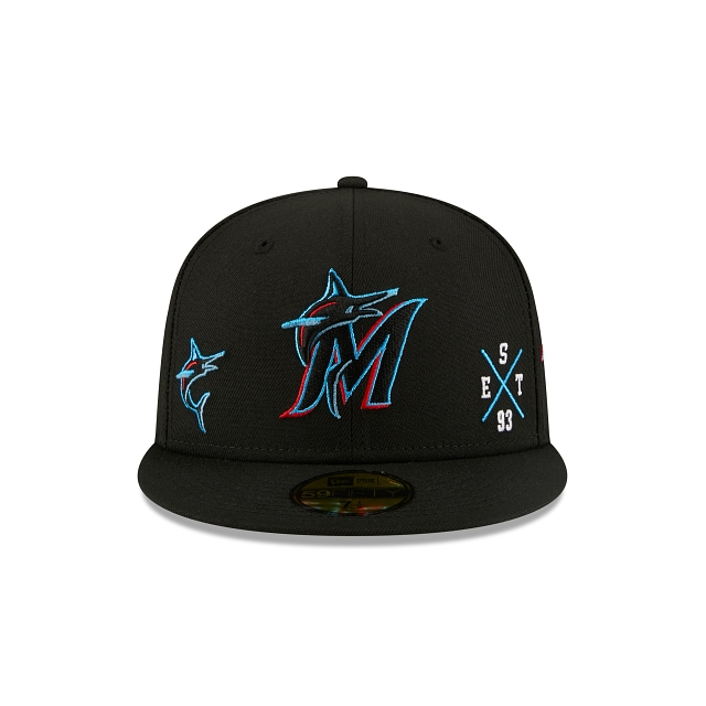 Miami Marlins Multi Patch Official Team Colours 59FIFTY Fitted | Miami Marlins Hats | New Era Cap