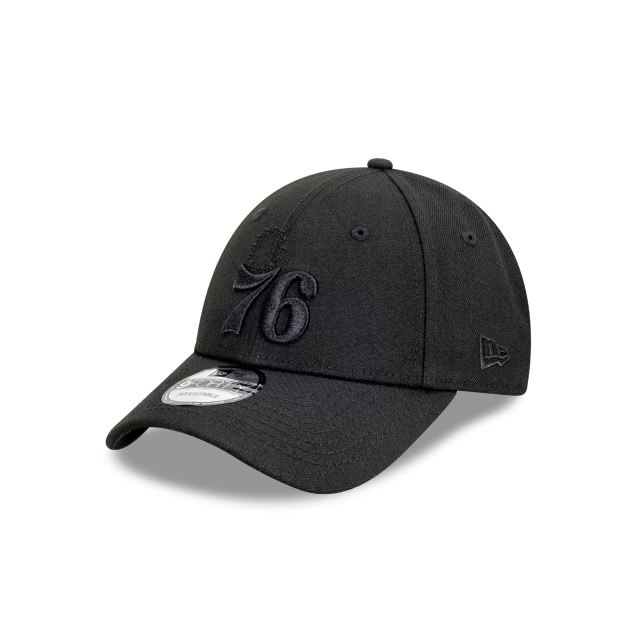 Philadelphia 76ers Black On Black 9FORTY | Philadelphia 76ers Hats | New Era Cap