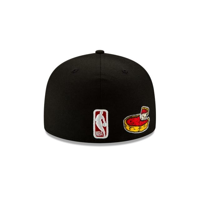 Chicago Bulls Black Team Describe 59FIFTY Fitted | Chicago Bulls Hats | New Era Cap