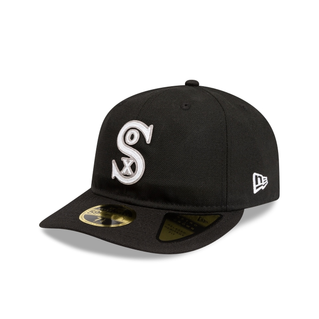 Chicago White Sox Black Felt Logo Retro Crown 59fifty Fitted | New Era Cap