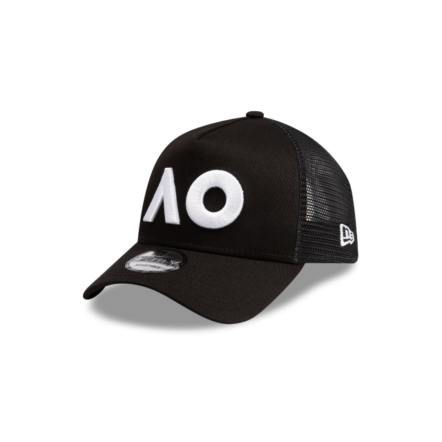 Australian Open Black 9forty A-frame Trucker | New Era Cap