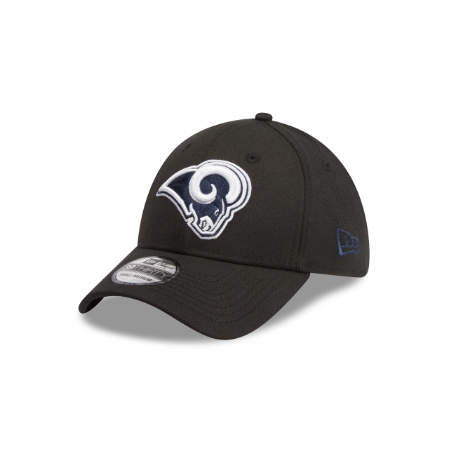 Los Angeles Rams Black 39THIRTY Stretch Fit | Los Angeles Rams Hats | New Era Cap