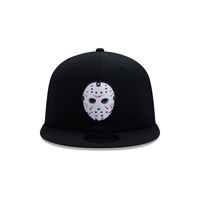 Friday The 13th Hockey Mask Black 9FIFTY Snapback | Horror Collection Hats | New Era Cap